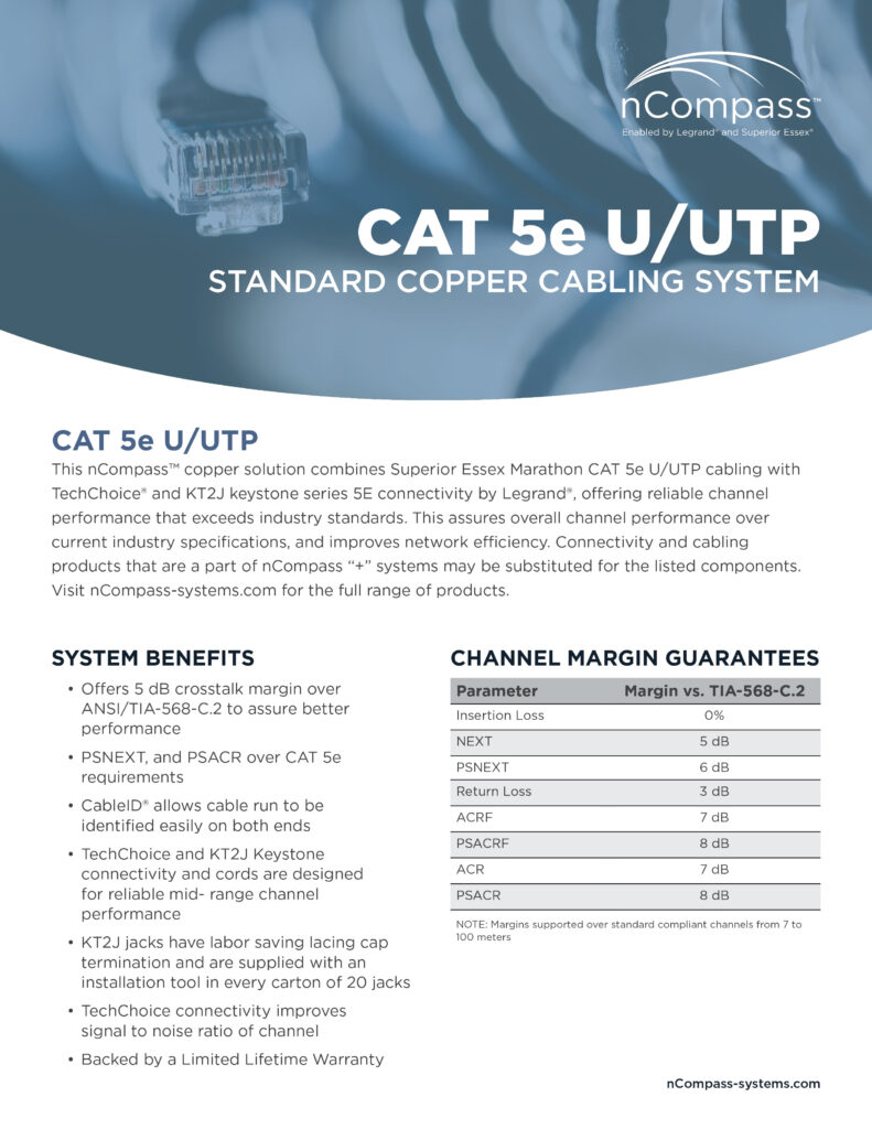 nCompass-CAT5e UTP-datasheet