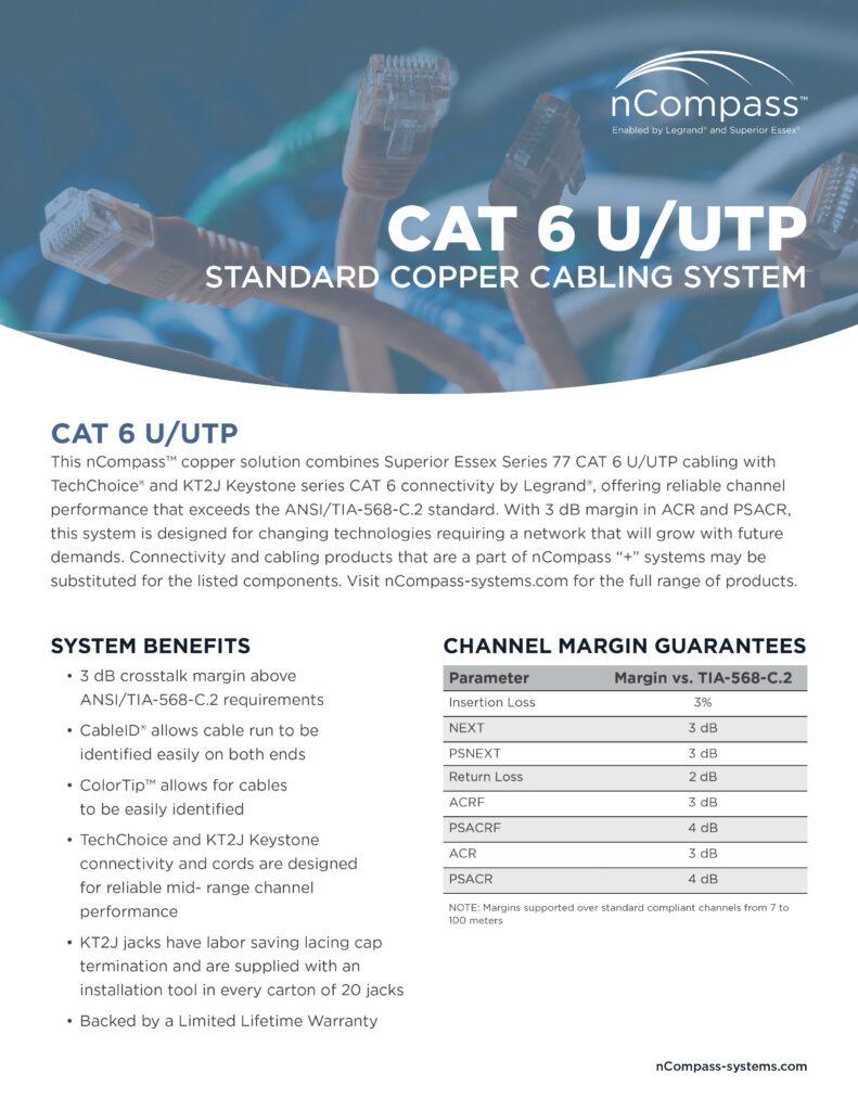 nCompass-CAT6 UTP-datasheet