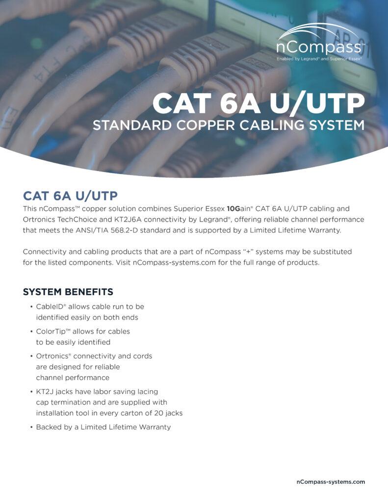 nCompass-CAT6A UTP-datasheet